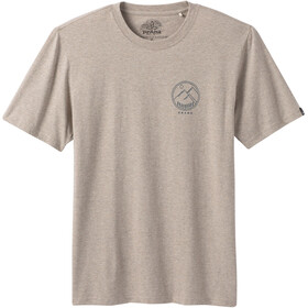 Prana Weekend Wander SS T-Shirt Men dark khaki heather
